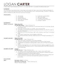 Resume Examples For Retail Sales Associate Retail Resume Templates Wikirian Com