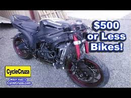 500 or less motorcycles nice