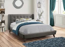 carrington light grey twin bed