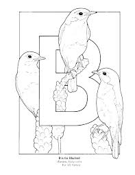 Letter B Coloring Pages Bluebird Coloring Page Eastern Bluebird
