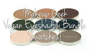 makeup geek vegan shadow bundle swatches free vegan logical harmony you