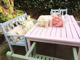wooden outdoor furniture painted. Garden Furniture Pastel Wooden Outdoor Painted O