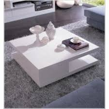 5114C Modern White Lacquer Square Coffee Table