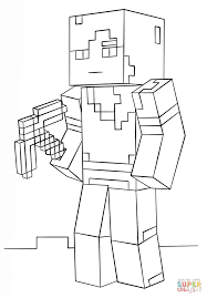 Minecraft Alex Coloring Page From Minecraft