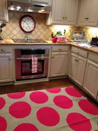 full size of new kitchen rugs for hardwood floors pink and cream cirlce polkadot image ofhen