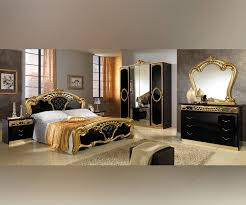 Italian Bedroom Set mcs sara sara black and gold italian bedroom set with 6 door 4314 by guidejewelry.us