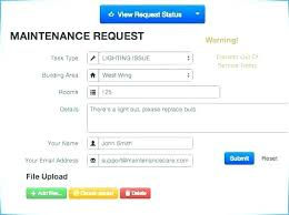 Maintenance Work Order Form Impressive Job Request Form Template Haferco