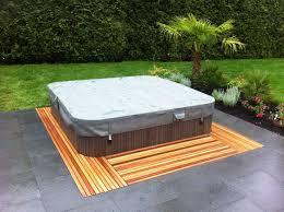 hot tub deck. 2x4-cedar-hot-tub-deck-inside-out-design- Hot Tub Deck