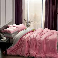 pink and gray comforter sets solid pink grey velvet 4 piece queen king size bedding sets free