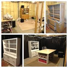 unfinished basement before and after. my unfinished basement converted craft space before after pinterest inspired 20 craigslist cabinet refinished ikea and