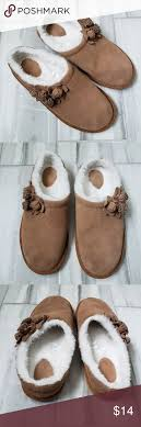 Lands End Cute Girls Slippers Size 6 Cozy And Cute