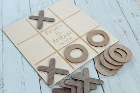Wooden Naughts And Crosses Game Noughts and Crosses Wedding Game Custom Wedding Game Rustic 42