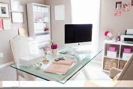 chic home office design home office. Awesome Comfortable Quiet Beautiful Room Chairs Table Bonnie Bakhtiari39s Pink And Chic Home Office Tour Sayeh Throughout Girly Regarding Design L