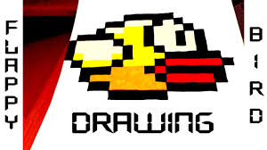 How To Draw Flappy Bird Easy Without Graph Paper For Kids From