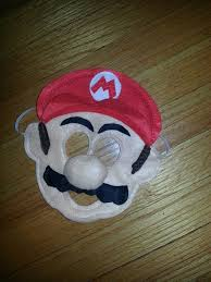 mario mask from super mario bros felt mask by craftedcreationsks 9 00 s