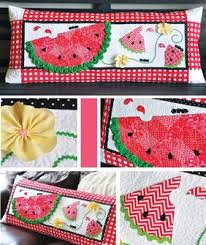 Slice of Summer Watermelon Bench Pillow Pattern Download from ... & Slice of Summer Watermelon Bench Pillow Pattern Download Adamdwight.com