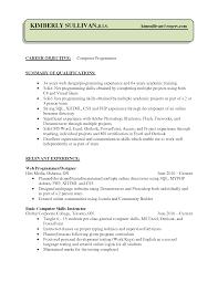 Programming Resume Skills Sidemcicek Com