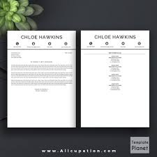 professional resume template page cover letter professional resume template cv template 1 2 and 3 page resume