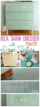 ikea tarva dresser hack faux linen. Contemporary Linen Ikea Hack Tarva Dresser With Faux Painted Linen Texture And S