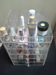 clear makeup stand plexigl cosmetic organizer 5 drawers plus 17 partments tray china acrylic cosmetic stand cosmetic display stan