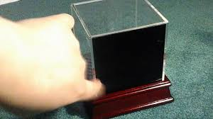 deluxe acrylic baseball wood base ball display case with standoffered by perfect sports fan