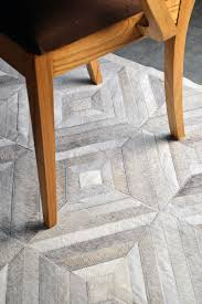 beautiful gray patchwork cowhide rug diamond design gorgeous