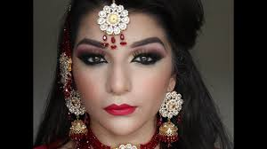 asian bridal red and gold makeup tutorial you
