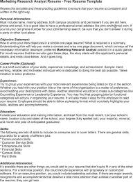 marketing research analyst resume sample market research analyst resume sample