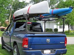Canoe rack design for truck