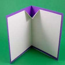 fold card card making idea v fold pop up birthday card tutorial greeting
