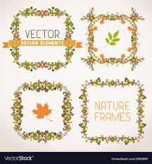 vintage autumn frames vector image
