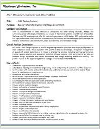 Design Engineer Job Description HVAC Systems Designer MEP Design Engineer Job Description 1