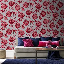 Red Wallpaper Designs For Living Room Statement Wallpaper Designs Graham Brown