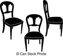 furniture clipart black and white. clip art black and white chair furniture clipart