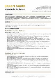 Auto Service Manager Resumes Automotive Service Manager Resume Sample Infinite