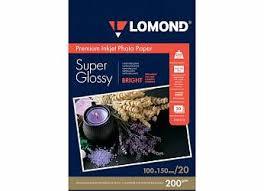 <b>Фотобумага Lomond</b> для струйной печати, <b>A6</b>, <b>200</b> г/<b>м2</b>, 20 ...