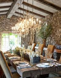 Outdoor Dining Rooms Design Stone Walls Rustic Farmhouse Table Dining Room Table