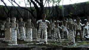 statues made from recycled ceramic rock garden chandigarh