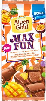 <b>Шоколад молочный Alpen Gold</b> c фруктовыми кусочками со ...
