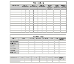 Blank Workout Logs Workout Log Sheet Tagesspartipp Com