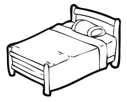 bed clipart black and white. Interesting Clipart Clipart Bed Black And White Inside Bed Black And White O