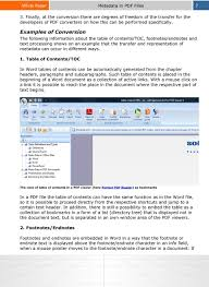 Metadata In Microsoft Office And In Pdf Documents Types Export