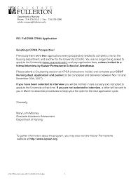 Nursing Job Letter Of Recommendation Sample Shishita World Com