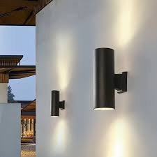 led up down light cylinder wall sconce