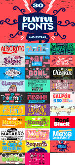 collage fonts free 30 playful fonts extras only 39 mydesigndeals
