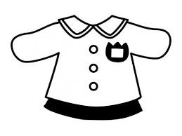 園児服の白黒イラスト かわいい無料の白黒イラスト モノぽっと