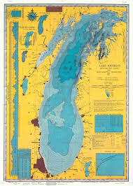 White Lake Ontario Depth Chart 1900s Lake Michigan U S A In 2019 Lake Michigan Map