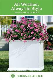 large white outdoor pots nz composite planter with pink flowers