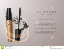 set of realistic maa and brush stroke beauty and cosmetic background vector eps 10