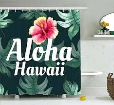 amazing hawaiian themed shower curtains